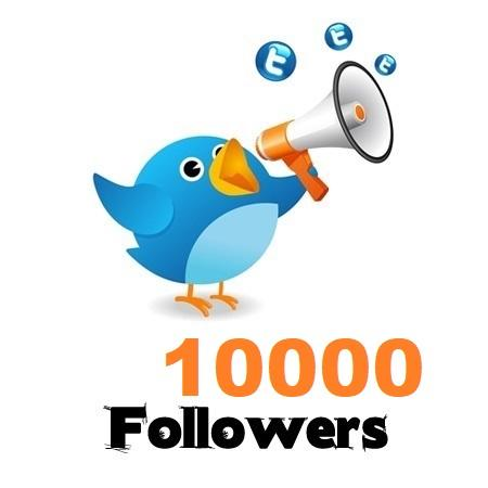 10,000 Twitter Followers