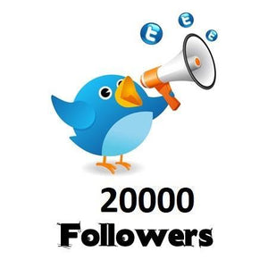 20,000 Twitter Followers