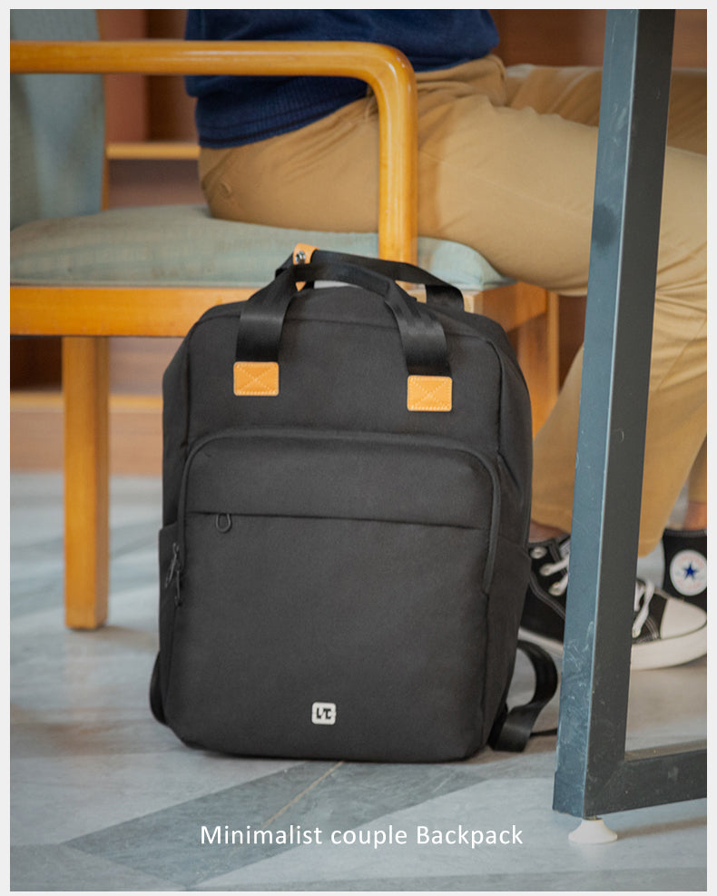 kingsons simple couple backpack suitable for going out and office