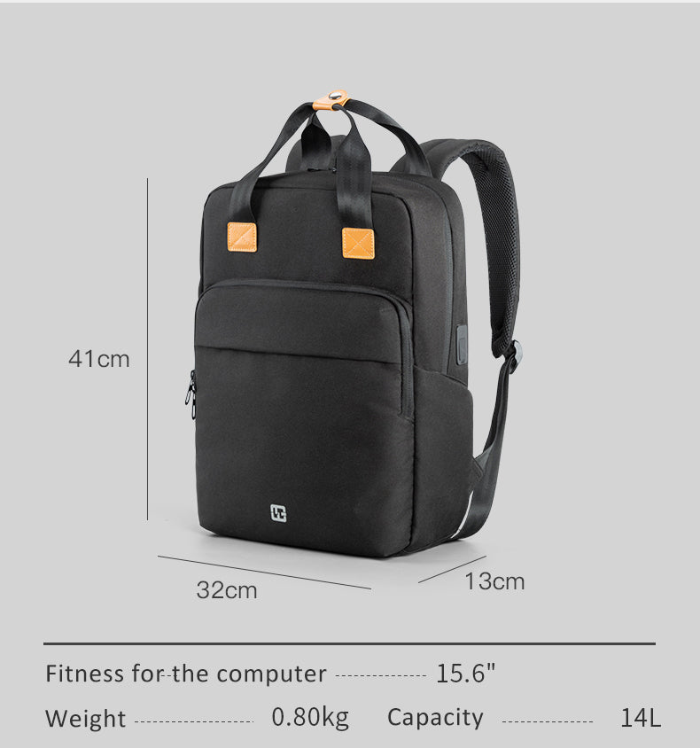 Kingsons men's multi-function travel laptop business backpack size details description 15.6-inch