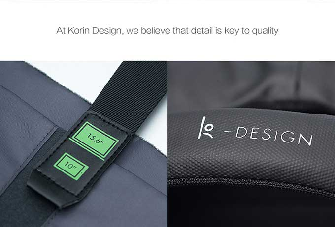 At Korin Design, we believe that detail is key to quality -DESIGN,business anti-theft backpack-kingsons.com