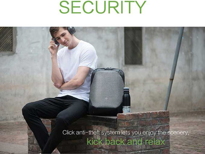 security  Click anti-theft system lets you enjoy the scenery,kickback and relax Anti-theft backpack-kingsons.com