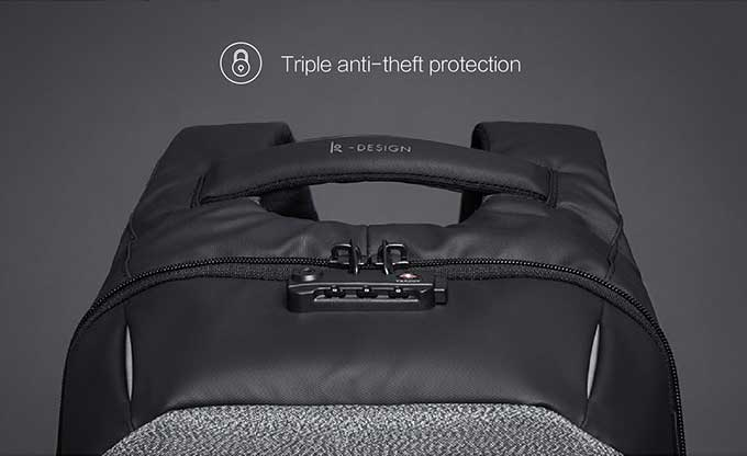 Triple anti-theft protection Comfortable handle,Business anti-theft backpack - kingsons.com