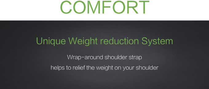 COMFORT,Unique Weight reduction System,Wrap-around shoulder strap,helps to relief the weight on your shoulder,Business anti-theft backpack -kingsons.com
