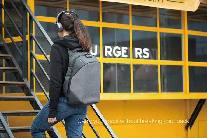 Caryyopack without breaking your back business anti-theft backpack-kingsons.com