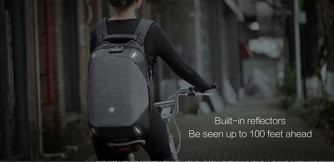 Built-in reflectors Be seen up to 100 feet ahead,Safe and convenient night travel ,Business anti-theft backpack - kingsons.com