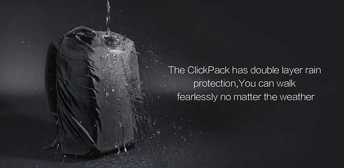 The ClickPack has double layer rain,protection,You can walk,fearlessly no matter the weather ,Business anti-theft backpack - kingsons.com