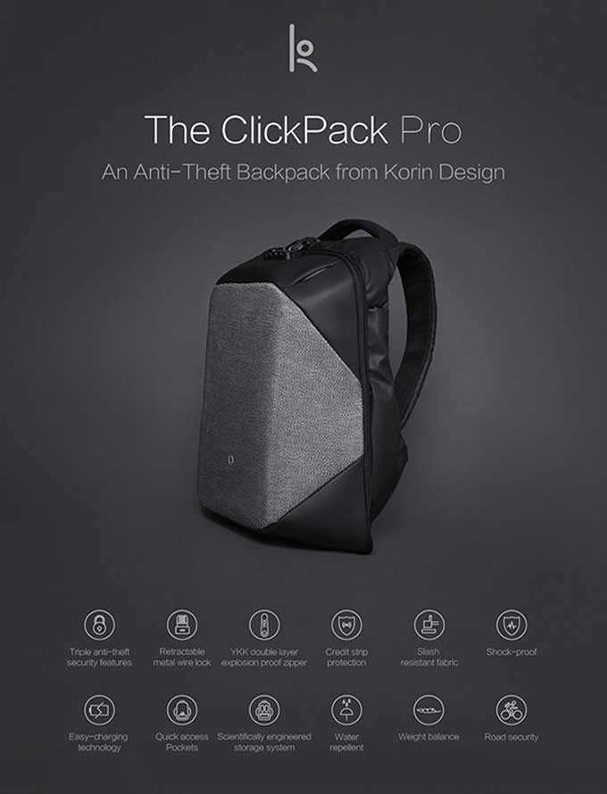 An Anti-Theft Backpack from Korin Design ,Business anti-theft backpack - kingsons.com
