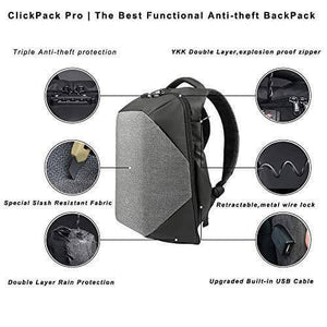 Korin ClickPack Pro Anti-theft smart laptop Backpack (15.6 inches) - kingsons.com