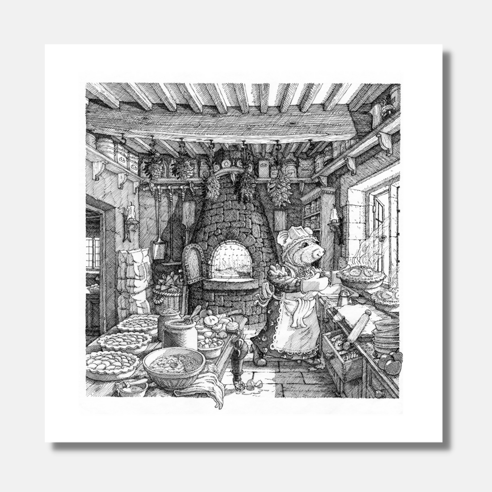'Baking Day' Signed Print