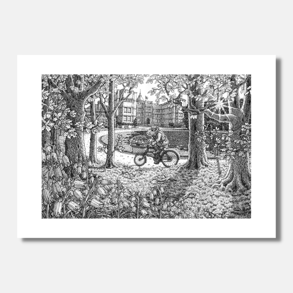 'Bluebells and Bicycle Bells' Signed Print
