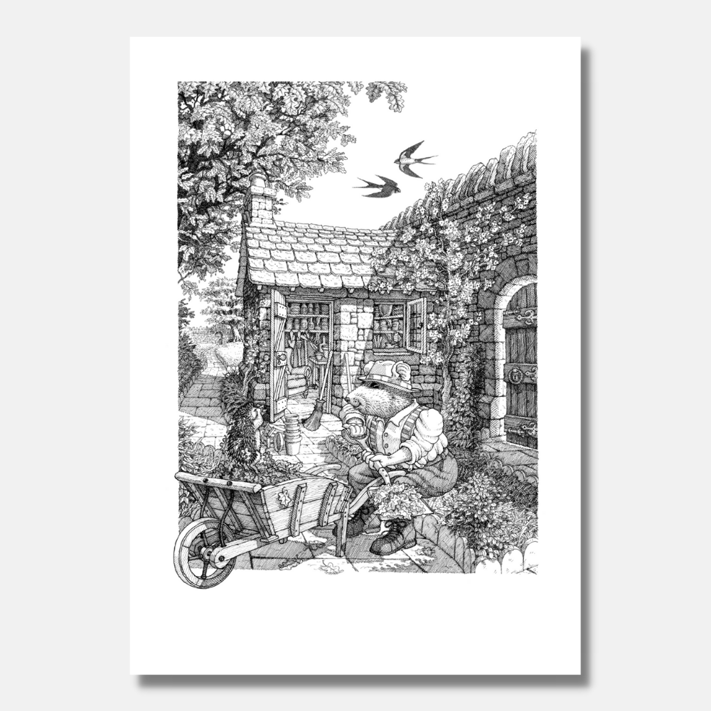 'Swallows and Hedgehogs' Signed Print