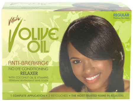 Vitale Olive Oil No-Lye Relaxer Kit Regular One Application                      data-zoom=