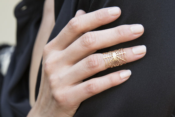 Spiderweb Midi Ring