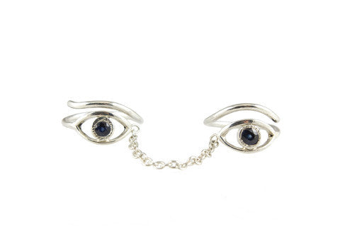 Picasso Eye Double Midi Ring