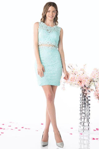 CDCF067S LACE FITTED DRESS