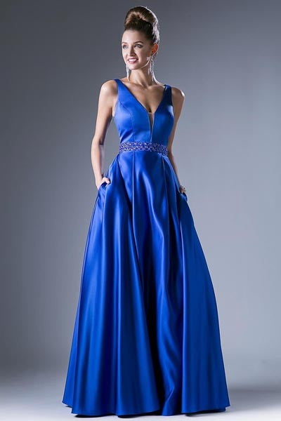 CDCJ225 SATIN EVENING GOWN