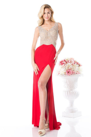 CDKD009 MESH JERSEY GOWN