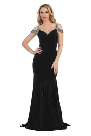 LF7277 FITTED JERSEY GOWN