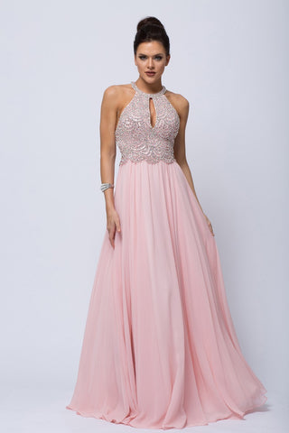 CDACSU001 BEADED CHIFFON GOWN