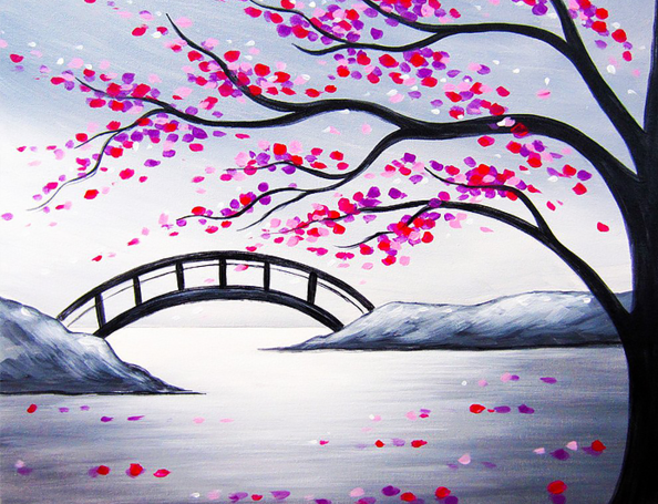 Blossoming Bridge - Paint at Home Kit