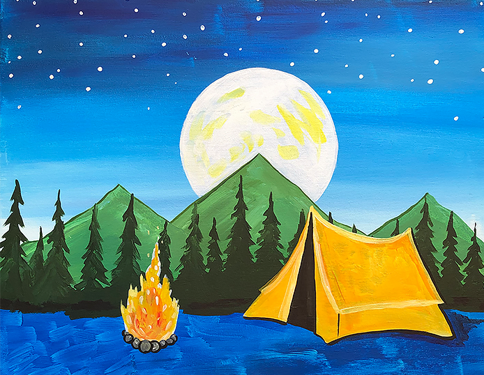 Camping Birthday - Paint at Home Kit