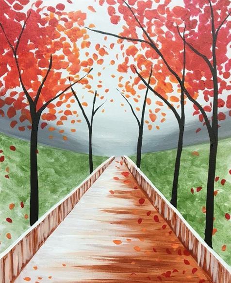 Fall Stroll - Paint at Home Kit