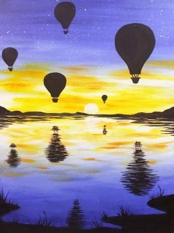 Floating Balloons - Paint at Home Kit