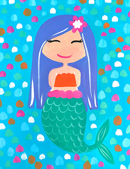 Mermaid Birthday - Paint at Home Kit