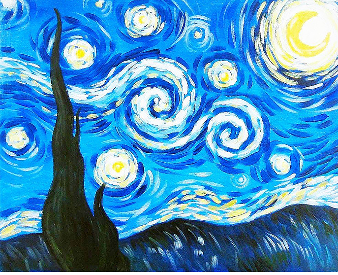 Starry Night - Paint at Home Kit