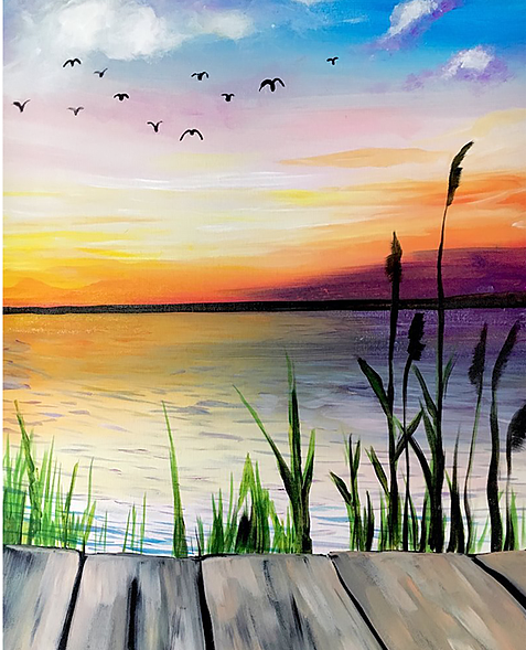 Sunset on the Pier - Paint at Home Kit
