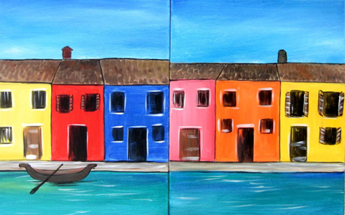 Venice Houses - Paint at Home Kit