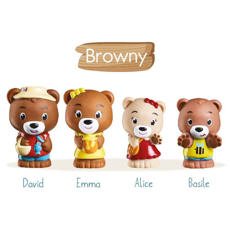 Klorofil Browny Bear Family