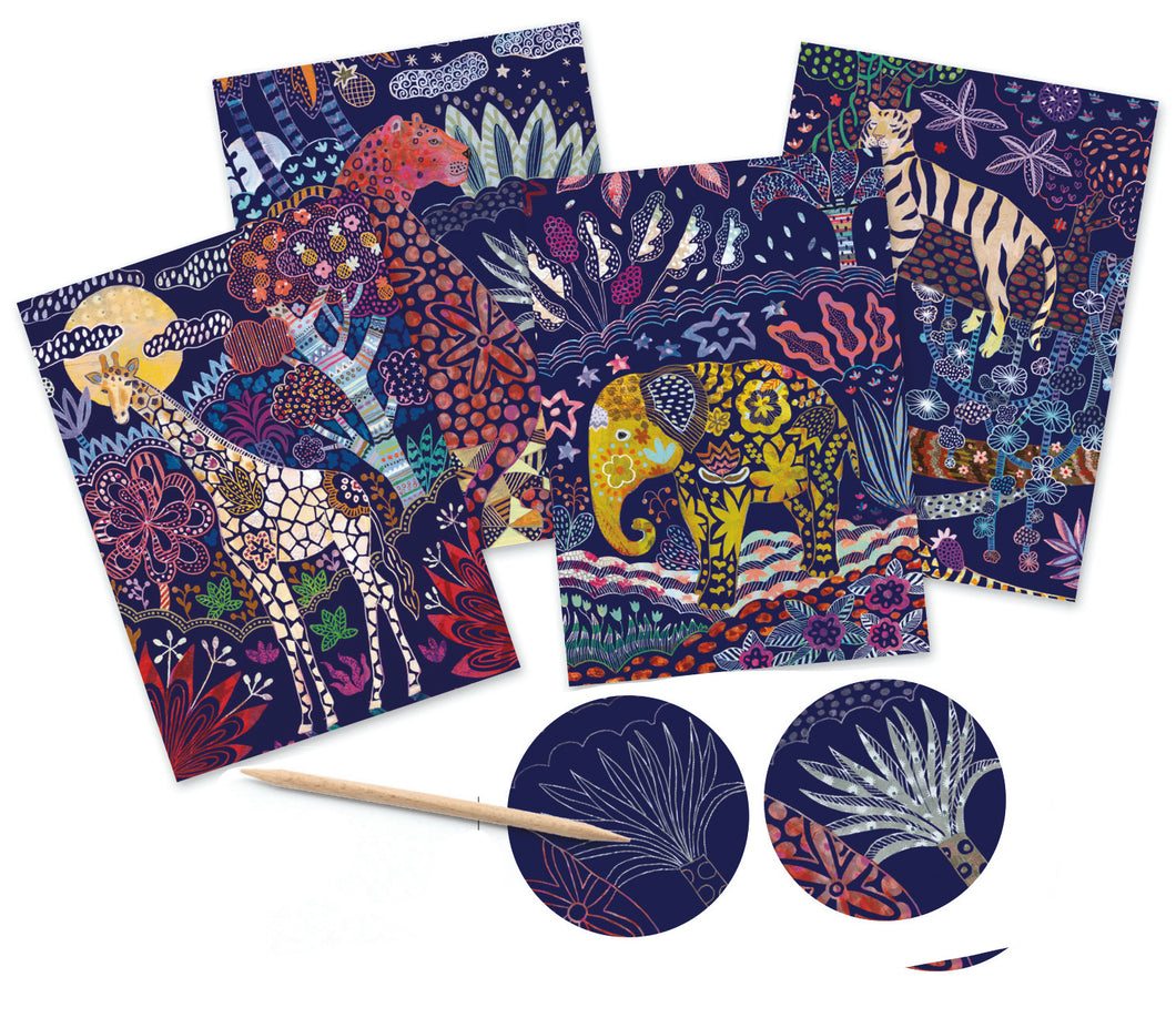 Lush Nature Scratch Cards by Djeco