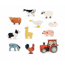 Load image into Gallery viewer, Farmyard Animal Wooden Box Set by Tenderleaf Toys
