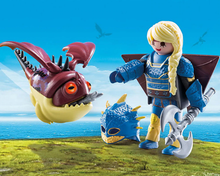 Load image into Gallery viewer, Playmobil HTTYD Astrid and Hobgobbler 70041