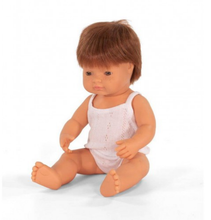 Load image into Gallery viewer, Miniland Doll Caucasian Boy Redhead 38cm