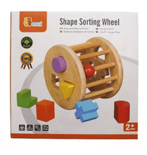 Load image into Gallery viewer, Shape Sorting Wheel by Viga