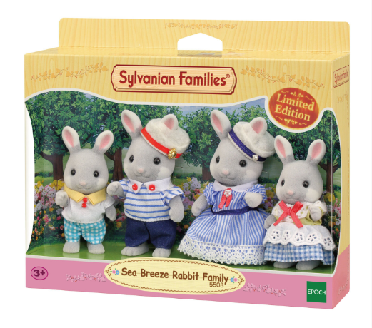 Sylvanian Families LIMITED EDITION Sea Breeze Rabbit Family