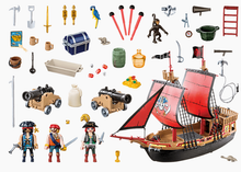Load image into Gallery viewer, Plymobil Pirate Ship 70411