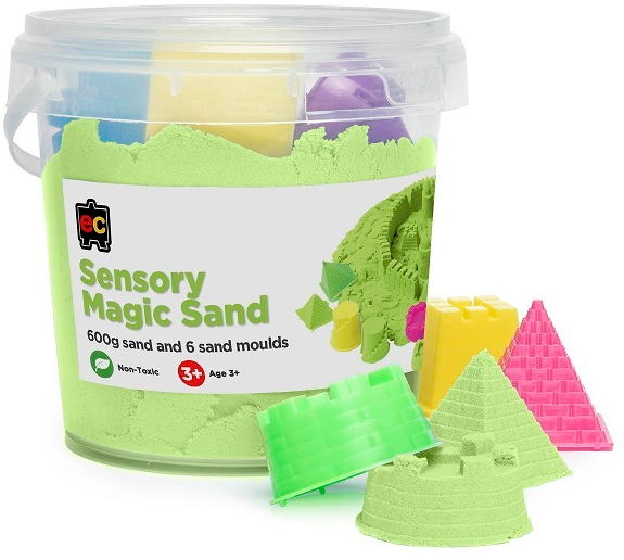 Sensory Magic Sand with Moulds 600gm Tub
