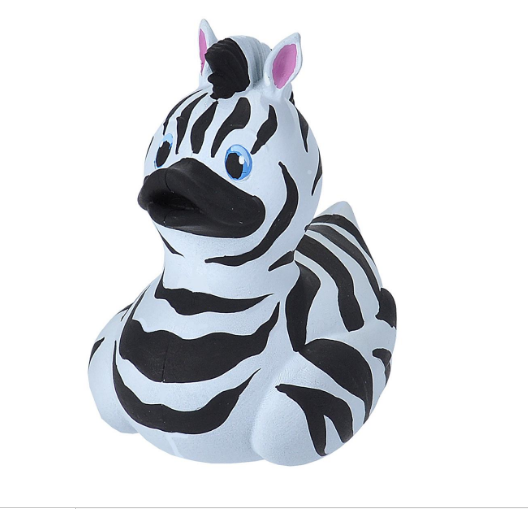 Rubber Duck - Zebra