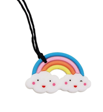 Load image into Gallery viewer, Silicone Chew Pendant Rainbow