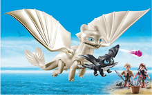 Load image into Gallery viewer, Playmobil HTTYD Hiccup, Toothless & Baby 70037