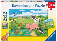Load image into Gallery viewer, ravensburger farm puzzle 2x12pc