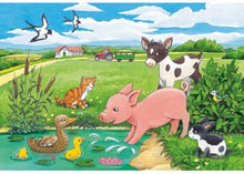Load image into Gallery viewer, Baby Farm Animals Puzzle 2x12pc