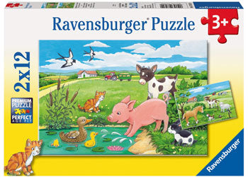 ravensburger farm puzzle 2x12pc
