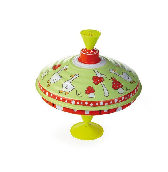 Spinning Top - Ducks and Mushrooms 19cm