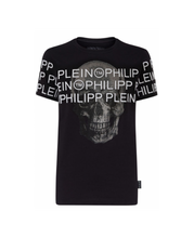 Load image into Gallery viewer, PHILIPP PLEIN - LOGO ACROSS W SS - BLACK