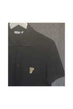 Load image into Gallery viewer, VERSACE COLLECTION - POLO SHIRT HALF MEDUSA LOGO - BLACK